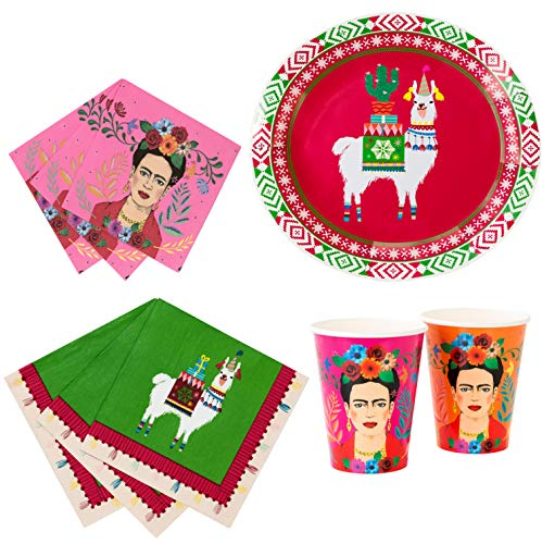 Talking Tables Frida Kahlo Fiestive Boho Bundle Party Supplies Holiday, Fiesta & Bohemian Party   Paper Plates, Paper Cups & Paper -