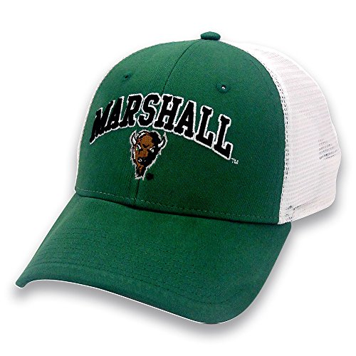 NCAA Marshall Thundering Herd Adult The Game Everyday Trucker Mesh Hat, Adjustable, Kelly