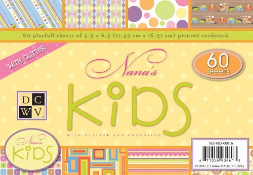 Diecuts With A View Nana's Kids 4-1/2 inches by 6-1/2 inches Mat Stack, 60 Sheets/Pad