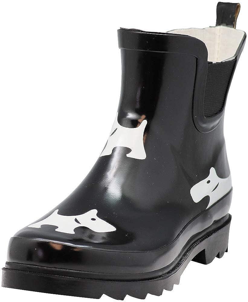 NORTY - Womens Ankle Rain Boots - Ladies Waterproof Winter Spring Garden Boot