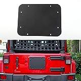 For Jeep Wrangler 2007-2016 Black Aluminum Alloy Tailgate Air Outlet Cover Decor Sticker Trim