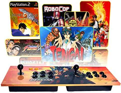 PinPle Arcade Game Console Pandora's Box 4S Built-in 815 Classic Games Ultra Slim Metal 2 Players Double Joystick Botton Console with HDMI & VGA for HDTV / Monitor / Projector / PC [Plug & Play]
