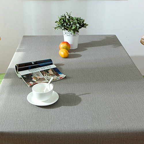 (KITnerkned Waterproof Anti-scalding Oil-proof Rectangle Square Pvc Plastic Tablecloth,No Wash Kitchen Dinning Table Cloth Fit Banquet Party-CI)