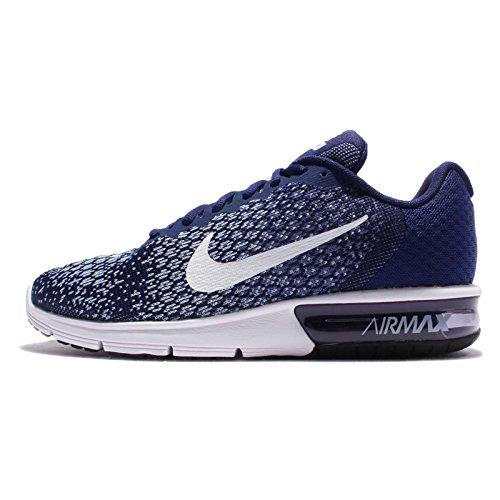Nike Air Max Sequent Chaussures De Course, Bleu Binaire Noir / Lune Blanc-bleu