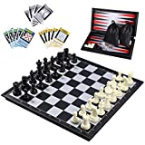 iBaseToy 3 in 1 Magnetic Travel Chess Set 2.0