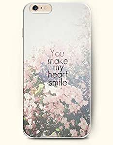 iPhone Case,OOFIT iPhone 6 Plus (5.5) Hard Case **NEW** Case with the Design of you make my heart smile - Case for Apple iPhone iPhone 6 (5.5) (2014) Verizon, AT&T Sprint, T-mobile by icecream design