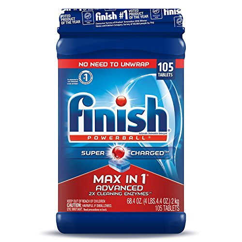 Finish Max in One Plus Dishwasher Detergent Powerball Tabs (105 ct.) ()