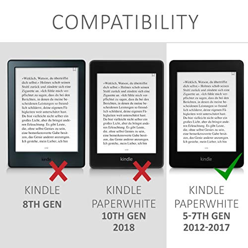 kwmobile Case Compatible with Amazon Kindle Paperwhite - TPU e-Reader Back Cover - (for 2017 and Older) Red Matte