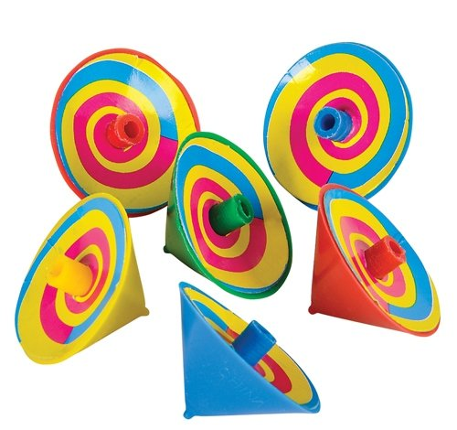 1.5'' SPINNING TOPS, Case of 40 by DollarItemDirect