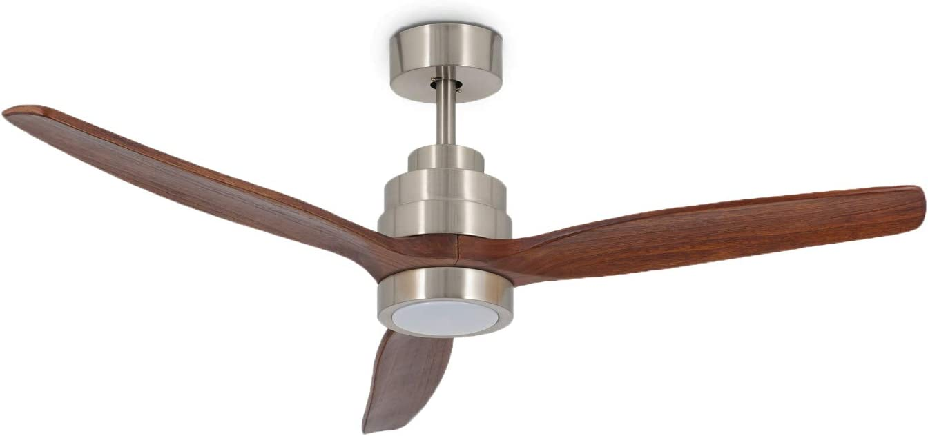 IKOHS WINDLIGHT Nickel - Ventilador de Techo con Luz, 3 Aspas ...