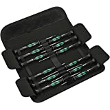Wera 05073675001 Kraftform Micro-Set/12 Sb 1 Screwdriver Set for Electronic Applications, 12 Pieces