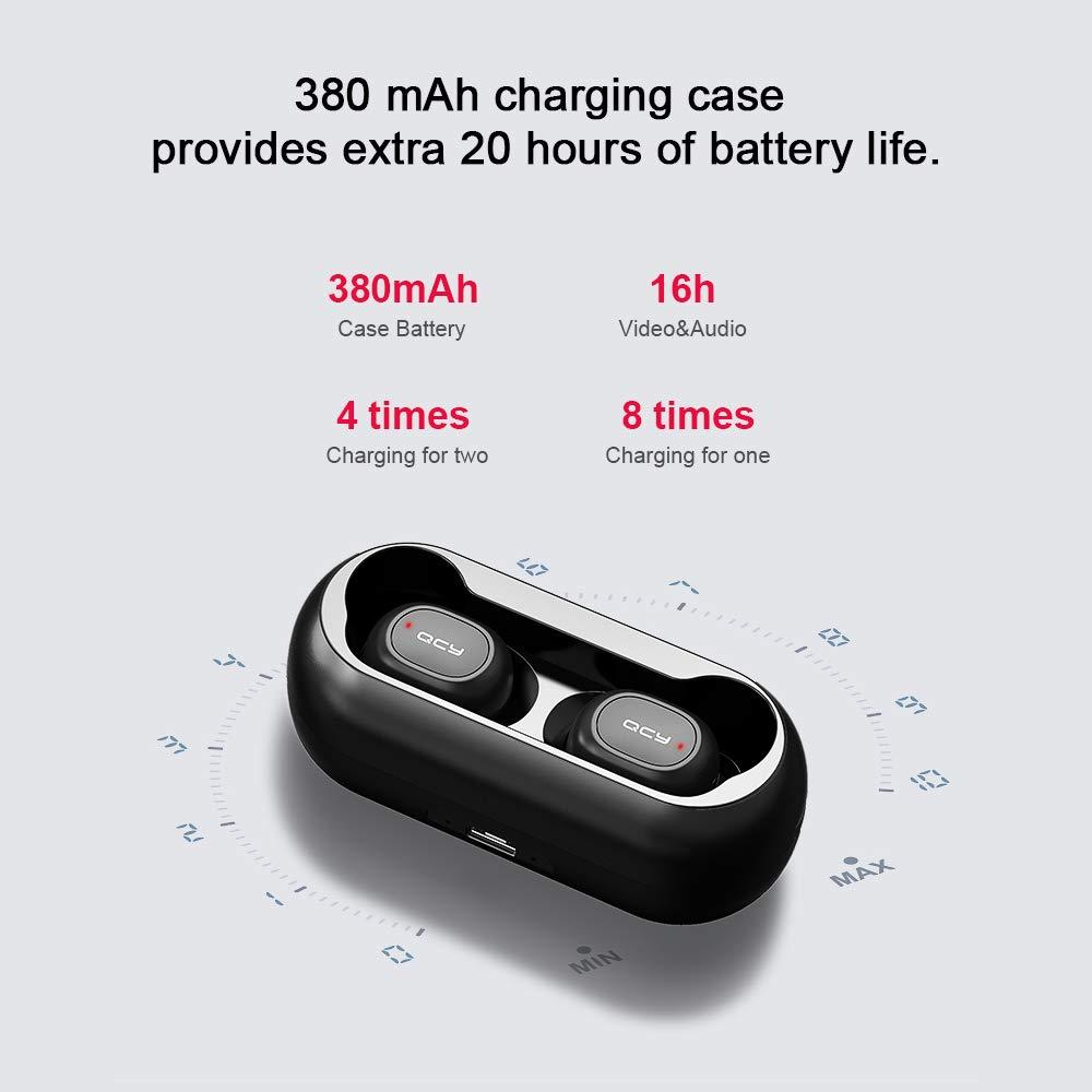 Docooler QCY TWS Bluetooth 5.0 Auriculares Auriculares inalámbricos Estéreo 3D con micrófono Dual: Amazon.es: Electrónica