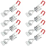 8PCS Toggle Clamp 4001 Heavy Duty Hand Tool Quick Release Metal Holding Capacity Latch Type 220 Lbs