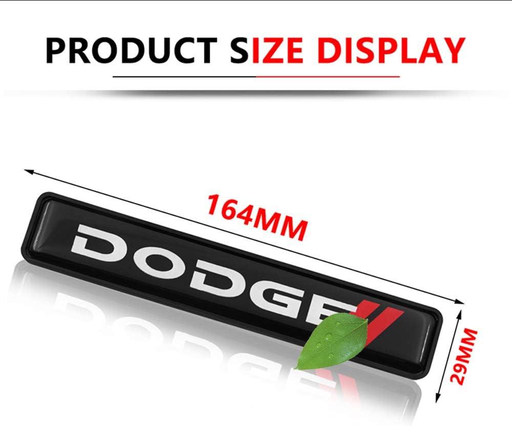 pour Dodges Challenger RAM 1500 charger Avenger caliber Nitro Autocollant De Logo En M/éTal Lumineux /éTanche Insigne DEmbl/èMe De La Calandre Du Capot Avant De La Voiture Led Lumi/èRe D/éCorative