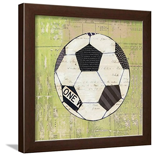 - ArtEdge Play Ball III Brown Frame Print, 16x16, Brown Frame-Unmatted