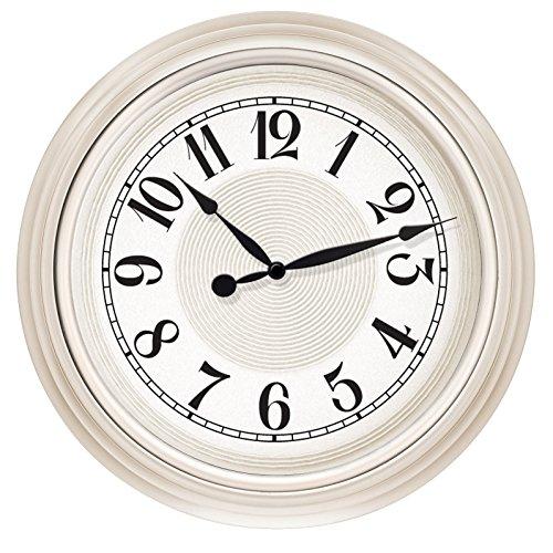 (Westclox 32939 15.5 in. White Embossed Detail Dial Wall Clock)