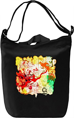 Psychedelic Painting Borsa Giornaliera Canvas Canvas Day Bag| 100% Premium Cotton Canvas| DTG Printing|