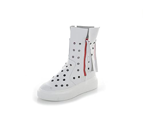 Zapatos de Mujer Estilo Europeo Americano 2018 Zapatos Verano, Zapatos de Cuero con Agujeros Blancos