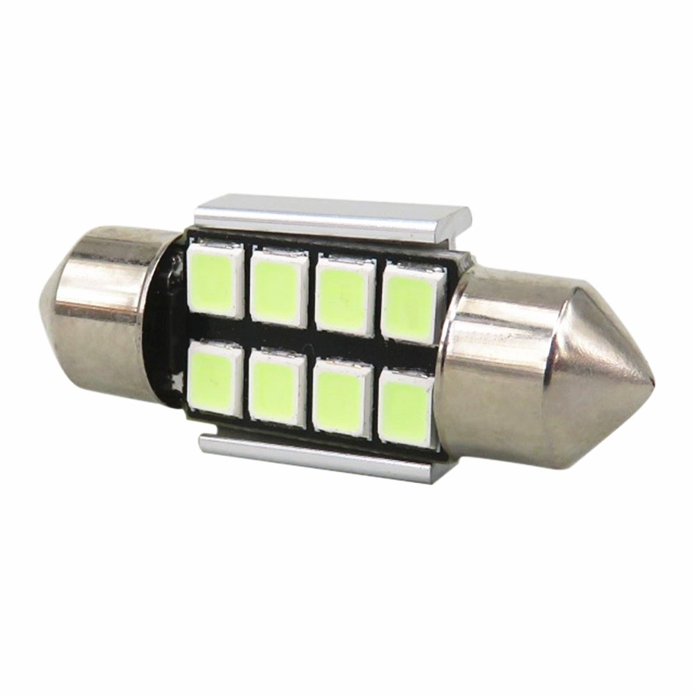 WLJH 10x 38mm 39mm Festoon LED Bulbs F5 C5W Super Bright Xenon White LED Upgrade 3W 2835 Chipset Canbus Error Free 6411 7065 C5W 6418 LED Interior Dome Map Number Plate Licence Light Lamp Bulbs