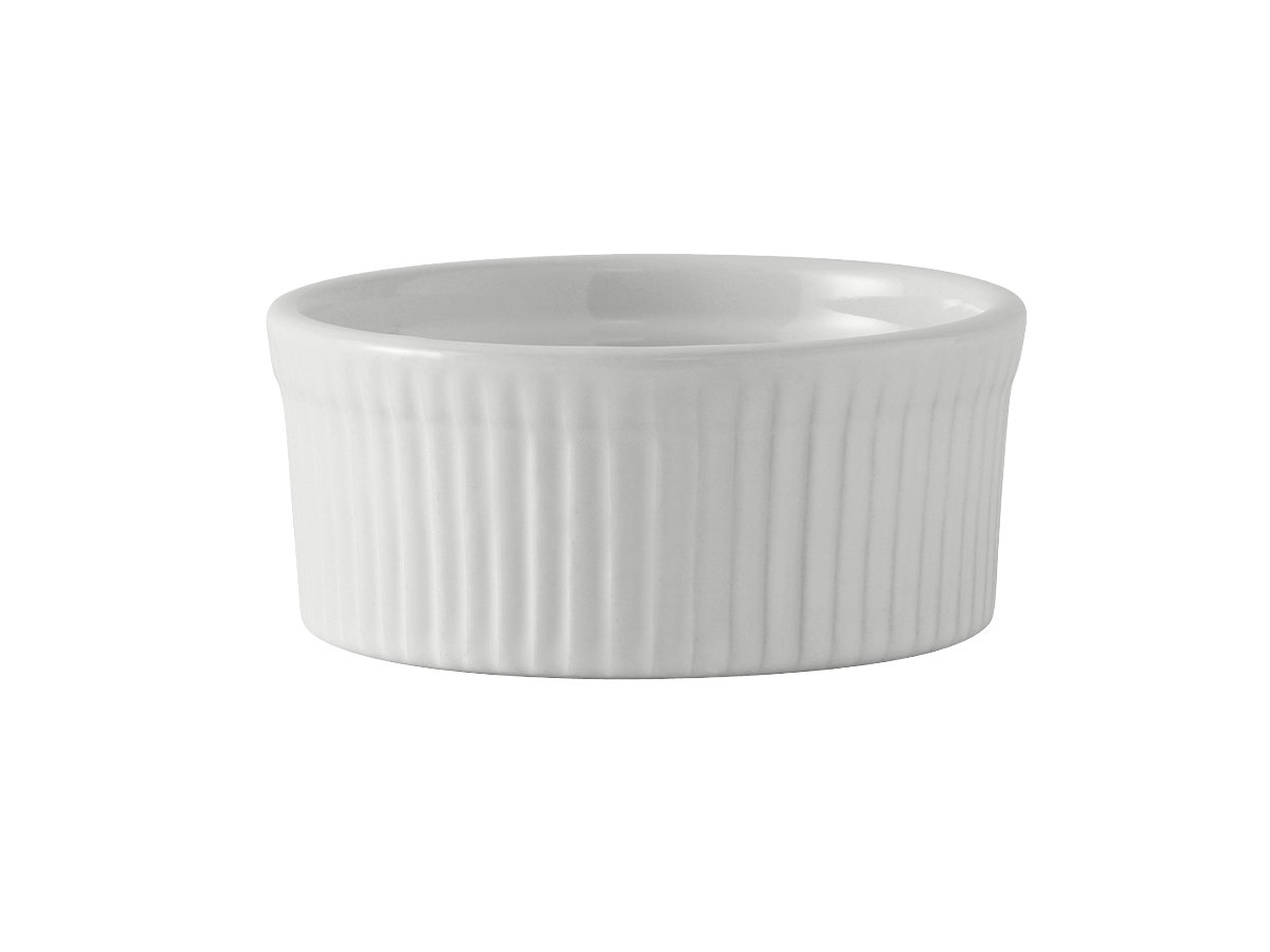 Tuxton BWX-1002 Vitrified China Souffle, 10 oz, 4-1/2, White (Pack of 12)