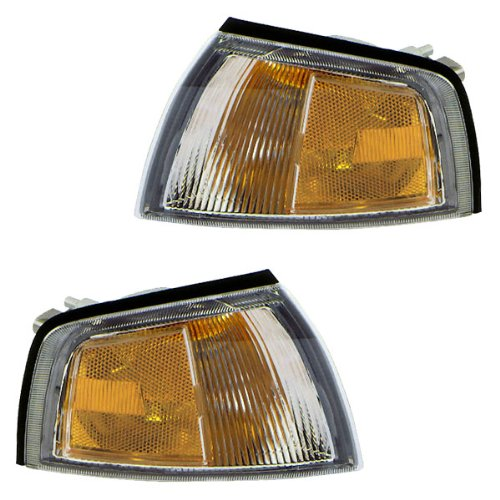 1997-2002 Mitsubishi Mirage 2-Door Coupe Corner Park Lamp Turn Signal Marker Light Set Pair Left Driver AND Right Passenger Side (1997 97 1998 98 1999 99 2000 00 2001 01 2002 02) (Mitsubishi Mirage 2 Door Coupe)