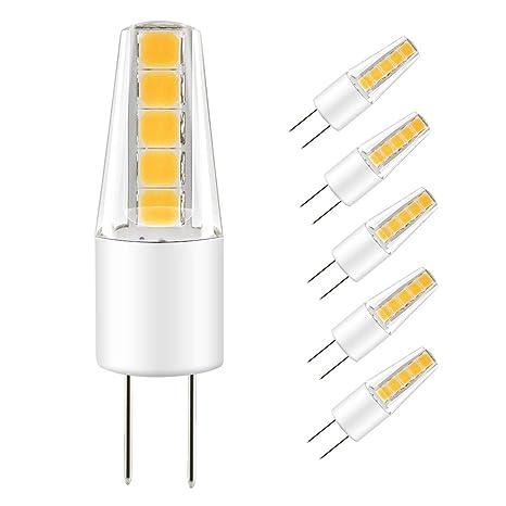 LAKES G4 LED Bombilla de COB, DC/AC 12V 2W G4 Lámpara(Equivalente