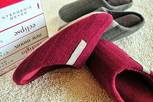 Light Cotton Home House Indoor Casual Flax Slippers Memory Women Foam gray Asifn Cozy House Men Massage xUqSF01n16