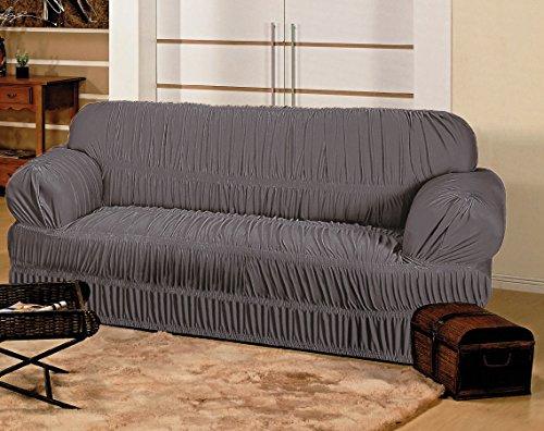 Capa Elasticada para sofá de 3 Lugares - Cinza