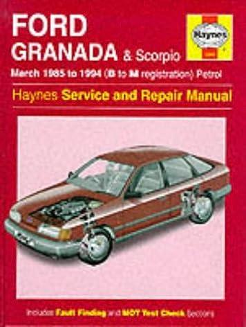 ford granada and scorpio 85 to 94 service and repair manual rh amazon co uk Haynes Repair Manuals Mazda Online Repair Manuals
