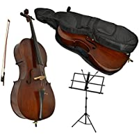 Sotendo 1/2 Size Student Cello with Music Stand & Soft Case