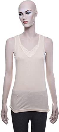 Mariposa Mlvblc 656 Big Lace Tank Top For Women - S, Beige