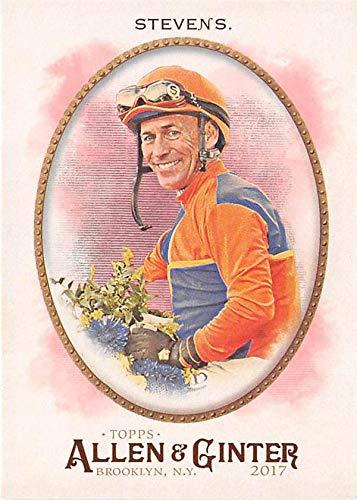 Gary Stevens trading card (Horse Racing Jockey Hall of Fame) 2017 Topps Allen Ginter #59