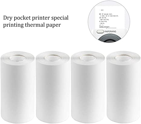 2.2*1.2in BPA-Free Black Font Adhesive Sticker Labels for Peripage A6//A8//P6 Paperang P1//P2 Thermal Printer Pack of 3 Rolls Aibecy Long-Lasting 10-Year Preservation Sticky Thermal Paper Roll 56*30mm