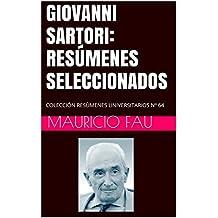 GIOVANNI SARTORI: RESÚMENES SELECCIONADOS: COLECCIÓN RESÚMENES UNIVERSITARIOS Nº 64 (Spanish Edition)