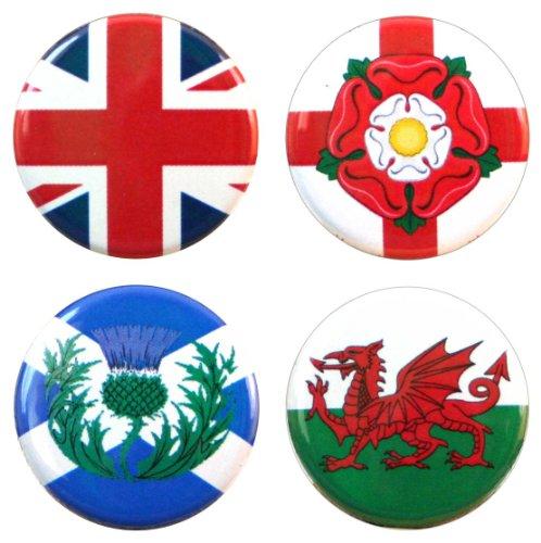 Buttonsmith UK United Kingdom Anglophile British 1.25
