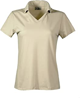 product image for Akwa Made in USA Women's Dry Wicking Polo Silky Soft Light Weight Jersey Knit 94/6 Poly/Spandex Wrinkle Resistant