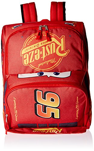 Disney Boys Car Shapped 16 Inch Backpack, red
