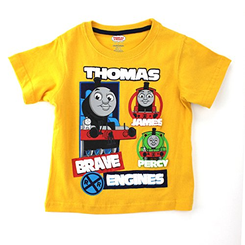 Thomas Train Outfit - Thomas Train Toddler Gold T-Shirt (4T)