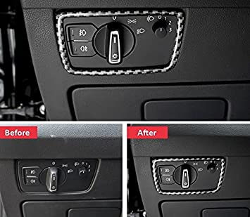 FFZ Parts Edelstahl Carbon Optik Handgriffe Rahmen Blende Abdeckung Passend F/ür T-Roc TDI TSI Rline