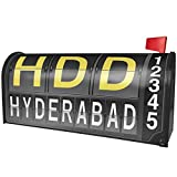 NEONBLOND HDD Airport Code for Hyderabad Magnetic Mailbox Cover Custom Numbers