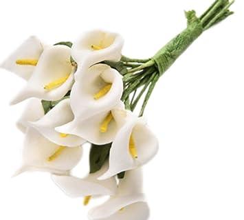 Nikgic Kunstliche Calla Blume Kunstblumen Hochzeits Dekoration