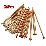 18 Sizes Carbonized Bamboo Single Pointed Needles Knitting Needles