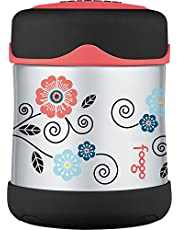 Thermos Foogo Vacuum Insulated Stainless Steel Food Jar, Poppy Patch Pattern, 10oz