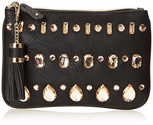 Handbag Black Buddha (BIG BUDDHA Colton Top Zip Coin Pouch Wallet,Black,One Size)