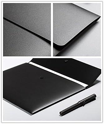 File Folder - 2 Pack Plastic Envelopes Poly Envelopes Poly Folders with Snap Button Closure Plastic Folders Premium Quality Document Folder A4 Size