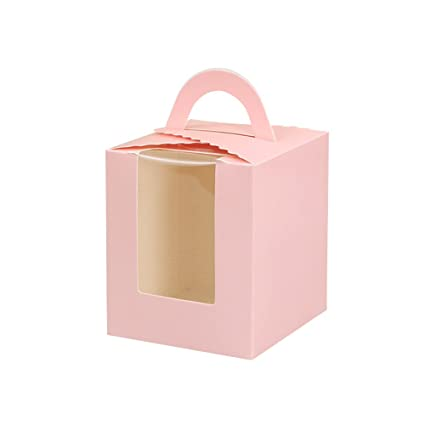 Zhi Jin 12pcs Mango único Conjunto de Cajas para Tarta Cupcake Envoltorio panadería Parte Caja de