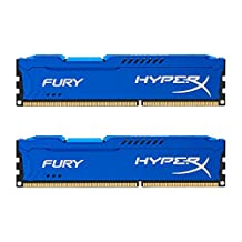 Kingston HyperX Fury 16GB Kit (2x8GB) 1866MHz DDR3 CL10 DIMM (HX318C10FK2/16), Blue