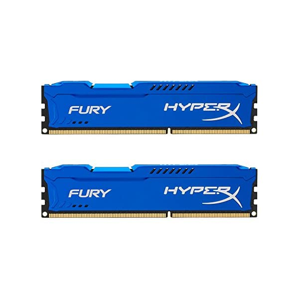 Kingston HyperX FURY 16GB Kit (2x8GB) 1866MHz DDR3 CL10 DIMM - Blue (HX318C10FK2/16), (Pack of 2)