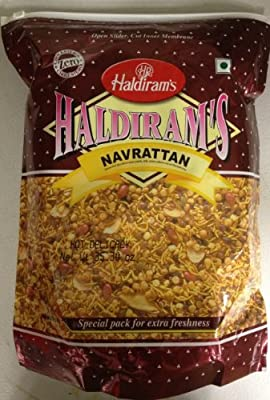 Haldiram's Navrattan , Delicious Hot & Spicy Blend of Savoury Noodles, Lentils, Peanuts, Puffed Rice and Sun Dried Potato Chips- 35.30oz, 1kg