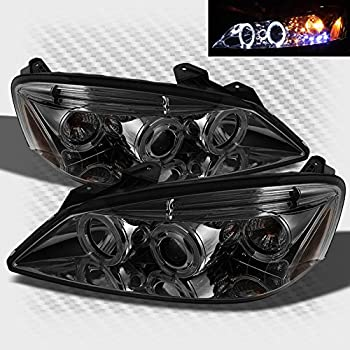 51ENEjx6KVL._SL500_AC_SS350_ amazon com pontiac g6 2 4dr projector headlights led halo led 2009 pontiac g6 headlight wiring harness at bayanpartner.co
